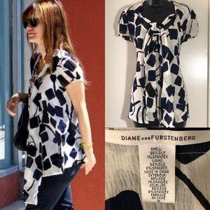 Diane von Furstenberg sz 10 silk blend blouse